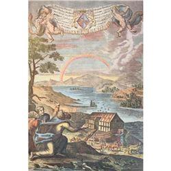 Noah's Ark & Rainbow Machine Colored Print