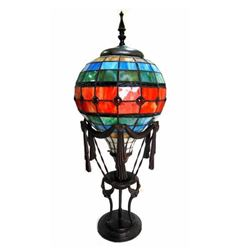 Hot Air Balloon Stained Glass Accent Lamp