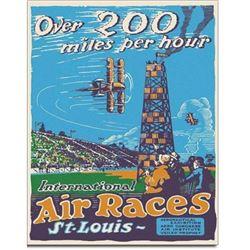 Air Races St Louis Metal Pub Bar Sign