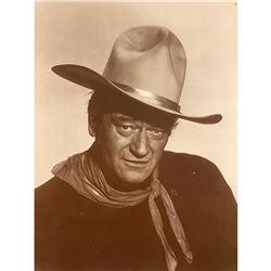 John Wayne The Duke Sepia Tone Photo Print