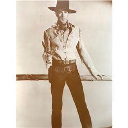 Western Movie Cowboy Gary Cooper Sepia Photo Print