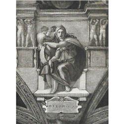 Vintage c1920's Half-tone Print, #297 Delphic Sibyl