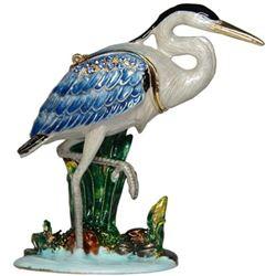 Little Blue Heron Trinket Jewel Box