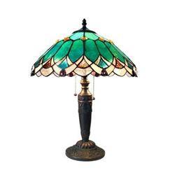Tiffany Style 2-Light Art Glass Table Lamp