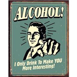 Alcohol Viintage Style Metal Pub Bar Sign