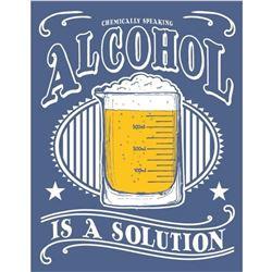 Alcohol Is A Solution Metal Pub Bar Sign