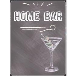 """Home Bar"" Pub Bar Printed Chalkboard"