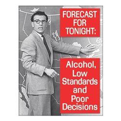 Forecast For Tonight Metal Pub Bar Sign