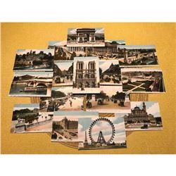 French Belle Epoque, Paris Scenes, Grand Tour Postcards