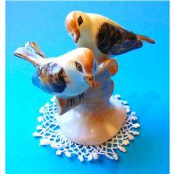 Vintage Hungarian Porcelain Love Birds Couple Figurine