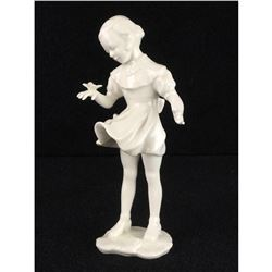 Vintage Hutschenreuther Hans Achtziger Germany Butterfly Girl Porcelain Figurine