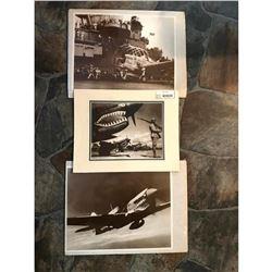 World War II Fighter Planes Septia Tone Photo Prints