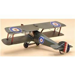 1940 Spitfire Monoplane Metal Model Aircraft, Plane Decor