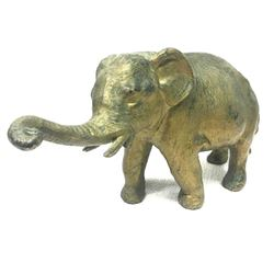 Antique Early 1900's GCK Co. NY Spelter Elephant Paperweight Statue Figure