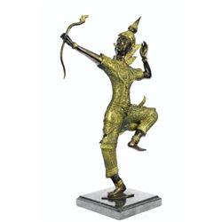 Gilt Bronze Hindu Prince Rama Sculpture