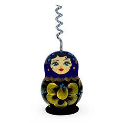 Russian Wooden Matryoshka Doll Corkscrew, Wine Bottle Opener