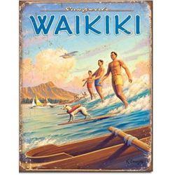 Waikiki Hawaii Advertising Travel Sign