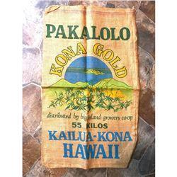 Novelty Burlap Bag, Hawaii Kona Gold