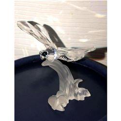 Swarovski Crystal Dragonfly Sculpture