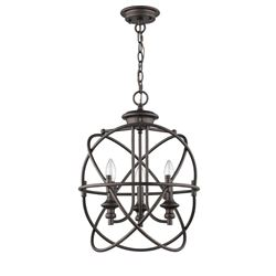 Industrial Style 3-Light Hanging Inverted Ceiling Pendant