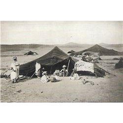 Vintage c1920's Half-tone Print, #1462 Tent & Natives, Algeria, Africa