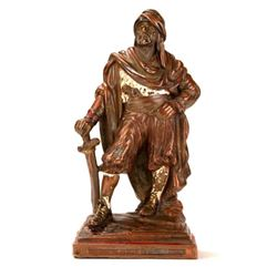 Vintage Signed Statue, Middle Eastern Arab Man