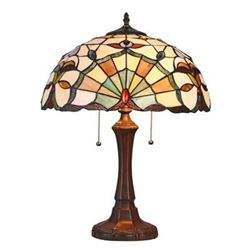 Tiffany-style Stained Art Glass Table Desk Lamp
