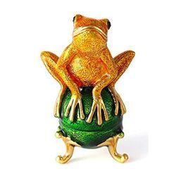 Little Frog Enamel & Crystal Trinket Jewel Box