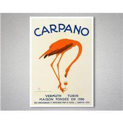Carpano Vermuth Turin Pink Flamingo Poster Print