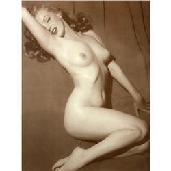Nude Marilyn Sepia Tone Photo Print
