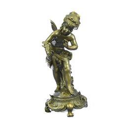 Little Fairy & Bird Bronze Sculpture