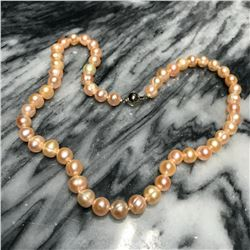 7-8mm Pink Cultured Pearls 18  Necklace