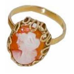 Antique 10kt Gold Classic Cameo Ring