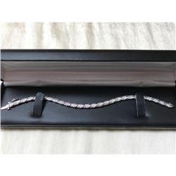 White Gold Sterling Diamond Tennis Bracelet