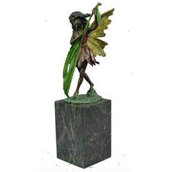 Little Fairy Bronze Bookend Sculpture