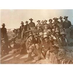 African American History, Black Americana, Buffalo Soldiers Sepia Tone Photo Print