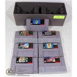 7 SUPER NINTENDO ENTERTAINMENT SYSTEM GAMES