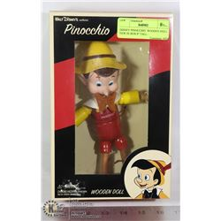 "DISNEY PINOCCHIO  WOODEN DOLL NEW IN BOX 8"" TALL"