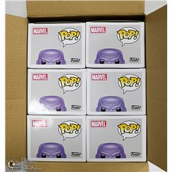 BOX WITH 6 AVENGERS THANOS FUNKO POP BOBBLE HEADS