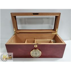 LTH - 0113 HUMIDOR ROSEWOOD FINISH WITH GLASS TOP