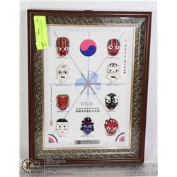 KOREAN FACE MASKS FRAMED