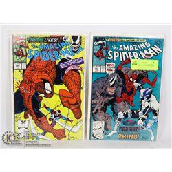 MARVEL AMAZING SPIDER-MAN #344, 345 COMIC LOT