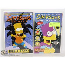 BONGO SIMPSONS COMICS #1 AND #2