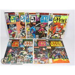 MARVEL STAR WARS COMIC LOT, 9 BOOKS