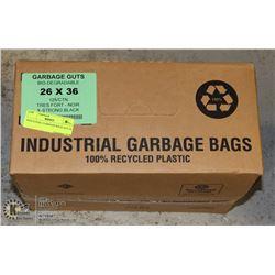 INDUSTRIAL GARBAGE BAGS 26 X 36