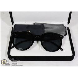 PAIR OF BLACK DESIGNER SOJOS SUNGLASSES WITH