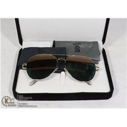 PAIR OF SOJOS DESIGNER AVIATOR SUNGLASSES WITH
