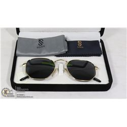PAIR OF DESIGNER SOJOS AVIATOR SUNGLASSES WITH
