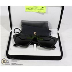 PAIR OF BLACK SOJOS DESIGNER SUNGLASSES WITH