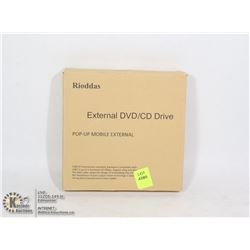 RIODDAS EXTERNAL DVD/ CD DRIVE